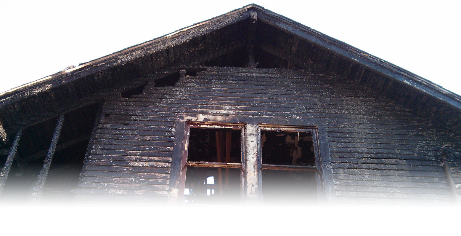 Image of a fire damaged residence.